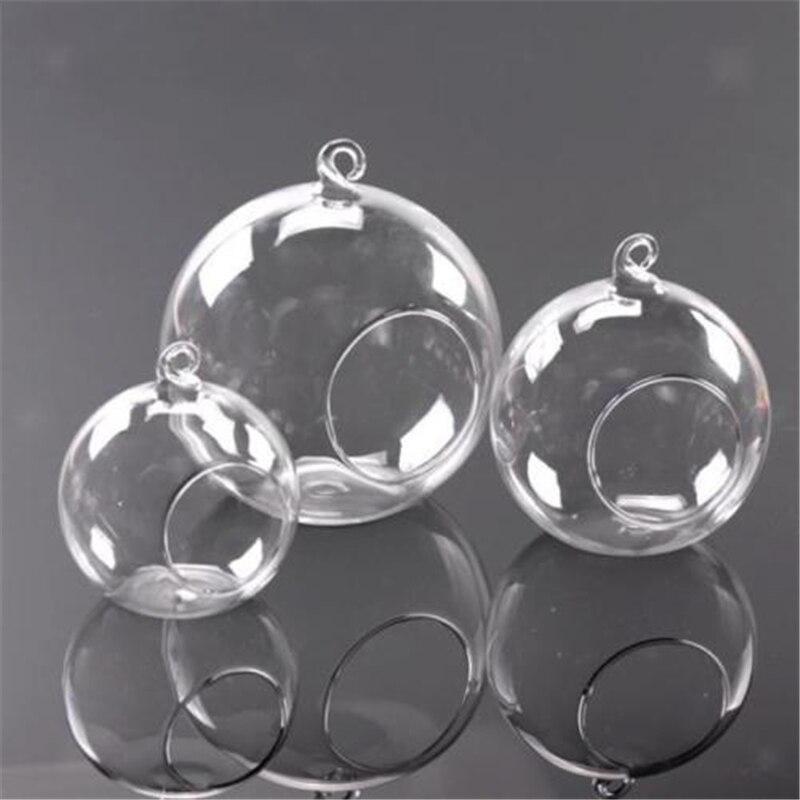 Vase à fleurs en verre suspendu 8/10/15cm | Vase à décoration de Terrarium, chandelier