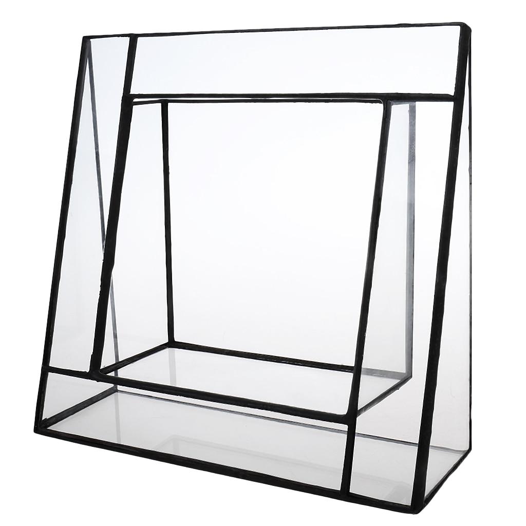 Boîte de Terrarium géométrique en verre | Irrégulière, table succulente plante à Air, Fern Moss, Pot planteur