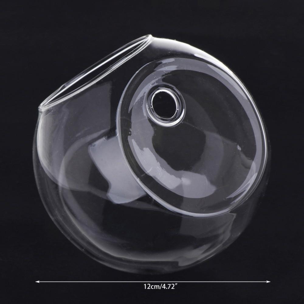 Vase en verre Transparent | Terrarium hydroponique suspendu, réservoirs de poissons, plantes en pot, pot de fleurs Dia 8/10CM