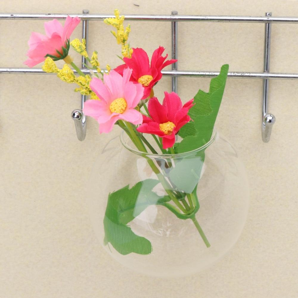 Vase en verre Transparent   Terrarium hydroponique suspendu, réservoirs de poissons, plantes en pot, pot de fleurs Dia 8/10CM