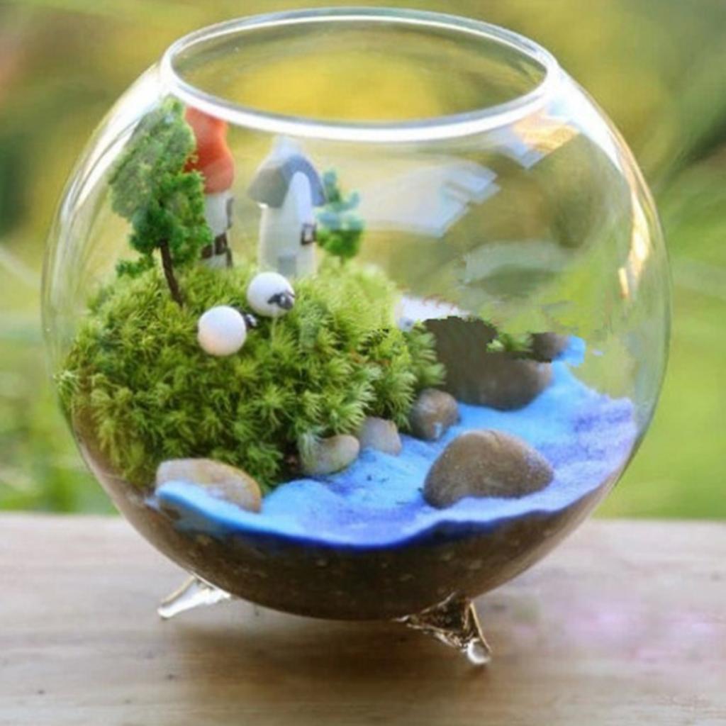 Vase en verre boule transparente pour bricolage | Vase de Terrarium, conteneurs de fleurs de Table, décor de jardin de mariage Transparent