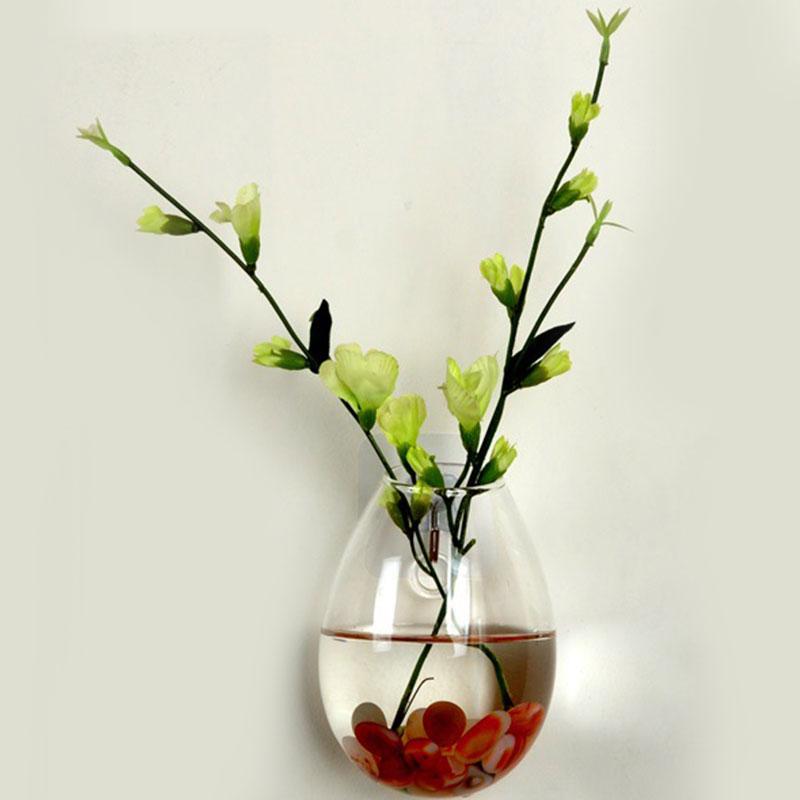 Vase mural à suspendre, plantes, Terrarium, en verre, Long, tubulaire transparent, décoration pour la maison, eau hydroponique, Vase mural