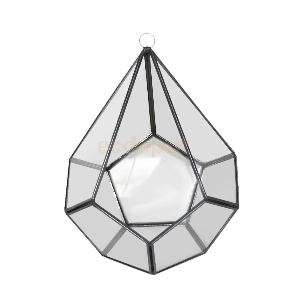 MagiDeal Vase de planteur géométrique | Divers verre irrégulier, Succulent Vase de Terrarium conteneur de table, Pot bricolage, décor de mariage, bureau à domicile