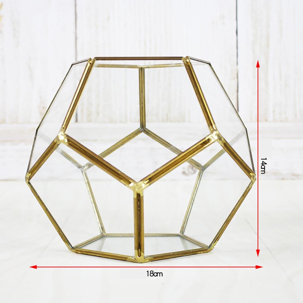 Conteneur en verre noir, pentagone, de formes géométriques, pour le Terrarium, rebord de fenêtre, Pot de fleurs, jardinière pour le balcon, boîte d'exposition bricolage, offre spéciale