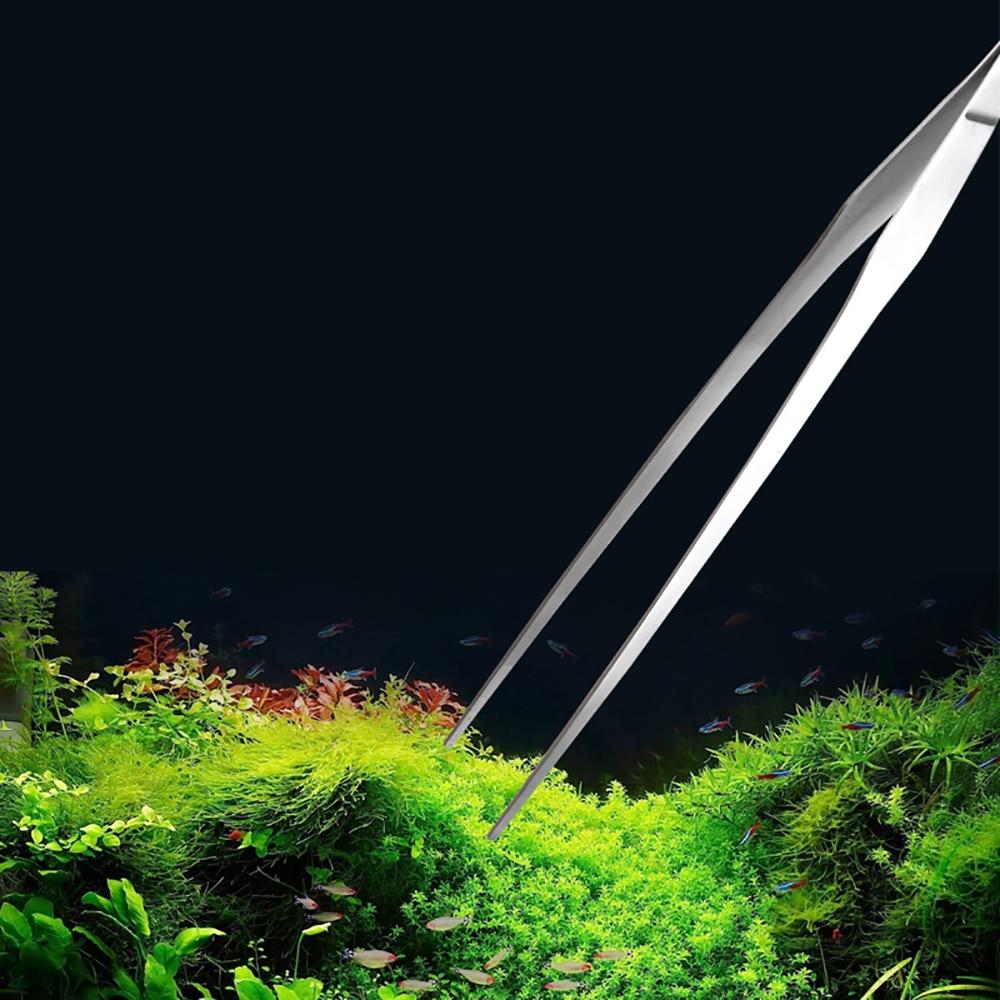Ensemble d'outils pour plantes d'aquarium en acier inoxydable, pincettes pour plantes et Terrarium, ciseaux à gravier, spatule en acier, Kit d'herbe d'eau, Aquarium, 4 pièces