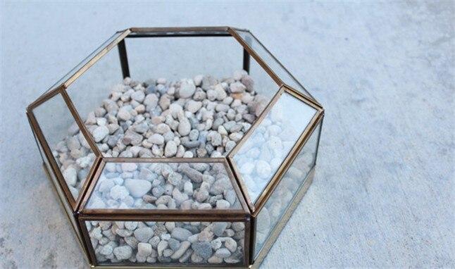 Terrarium en verre géométrique, Vase, Dodecahedron, vitrail, jardinière faite à la main, pour l'intérieur