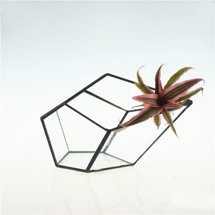 Terrarium de Table moderne en verre soudé au diamant, bouteille de jardinière pour plantes/plantes succulentes/fleurs