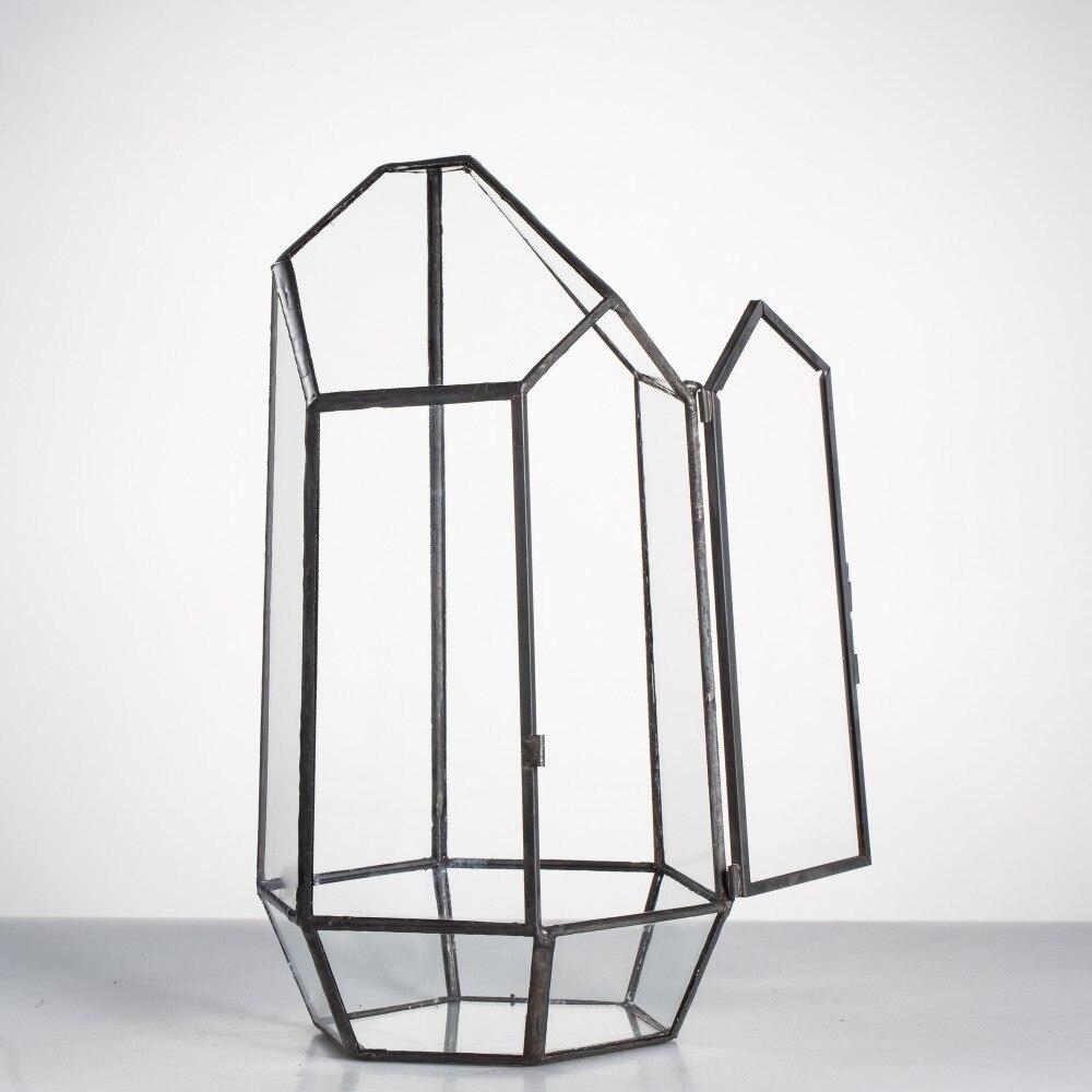 NCYP-Pot de fleurs en verre, irrégulier moderne, grand Terrarium géométrique, Miniatures, jardin de fleurs victoriennes
